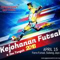 Small futsal football tournament flyer poster