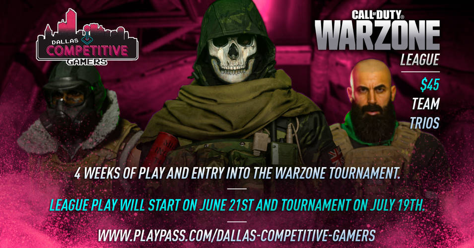Dallas Competitive Gamers Warzone Online League