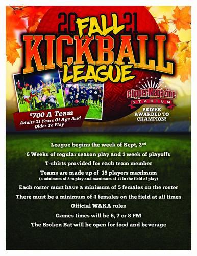 2021 Lancaster Fall Kickball League