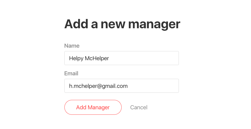 add a manager