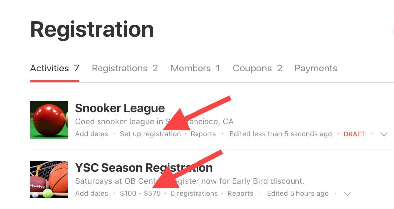 set up registration link
