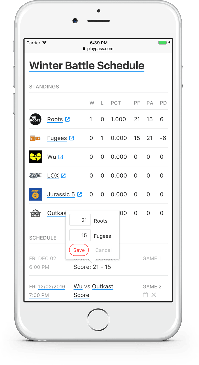 schedule maker free league scheduler