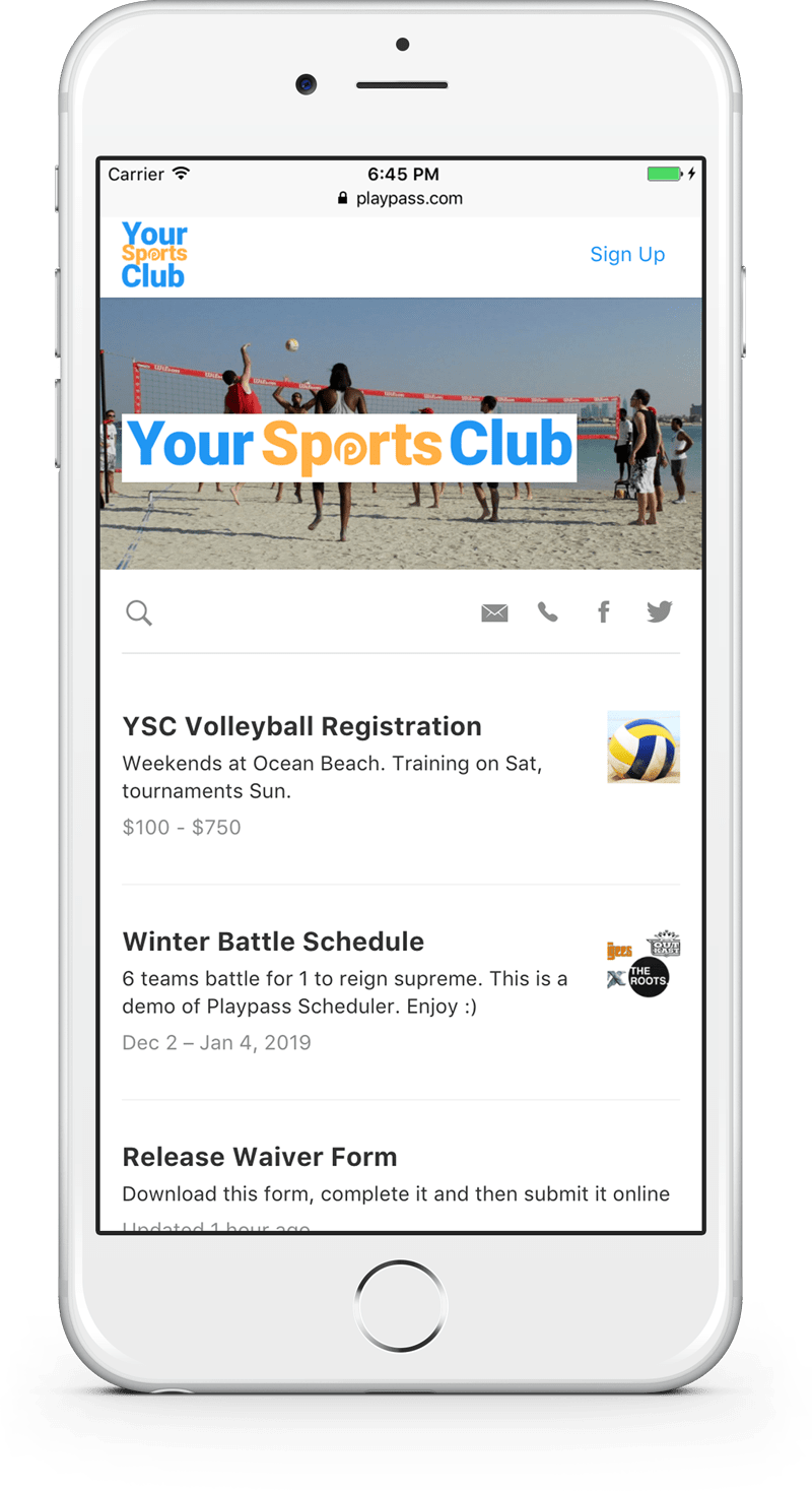 free water polo website mobile