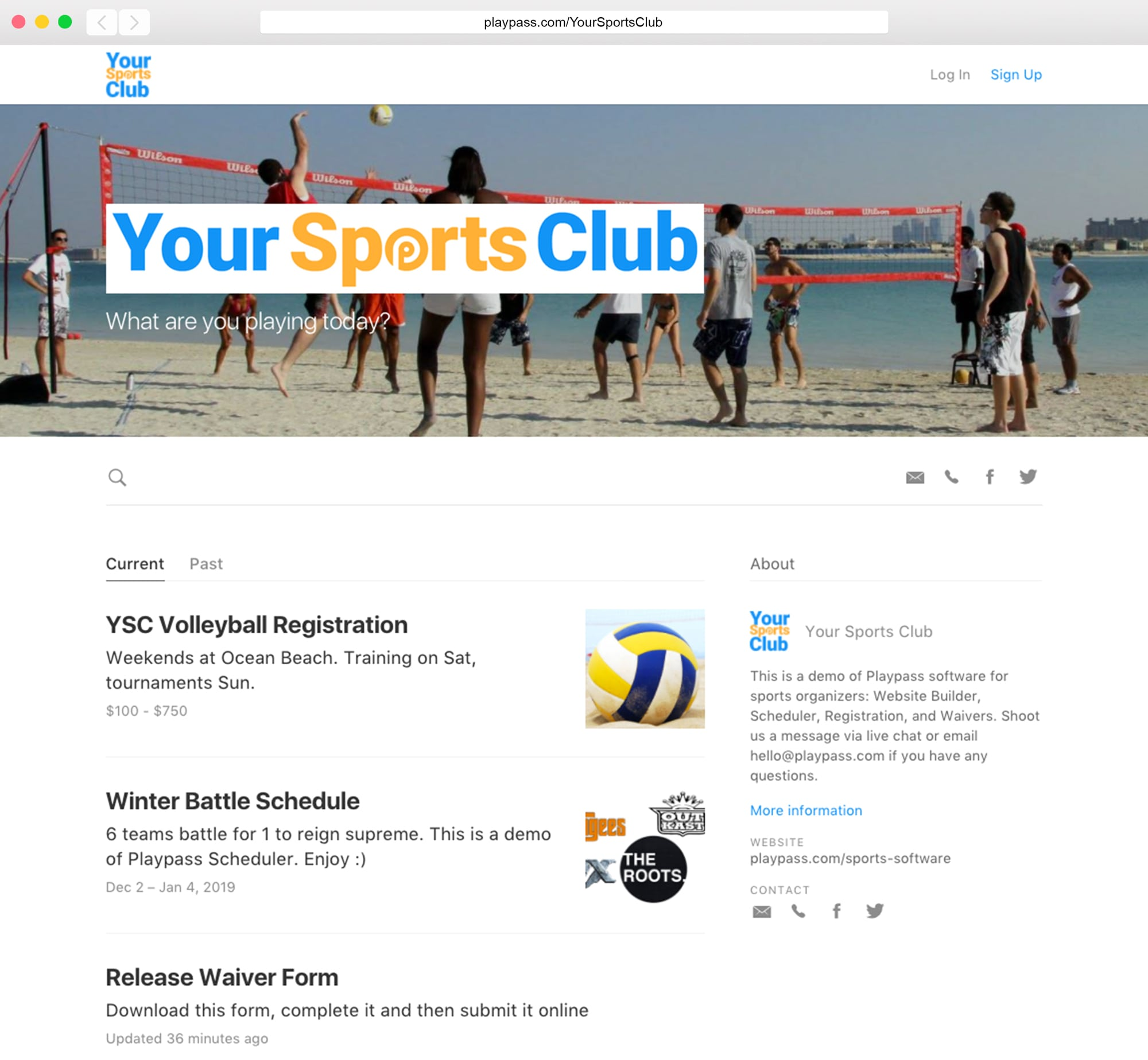 free water sports website mobile