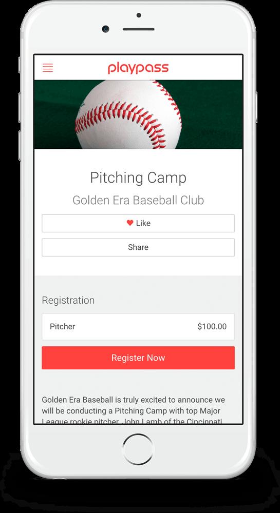 baseball registration  u0026 league website software