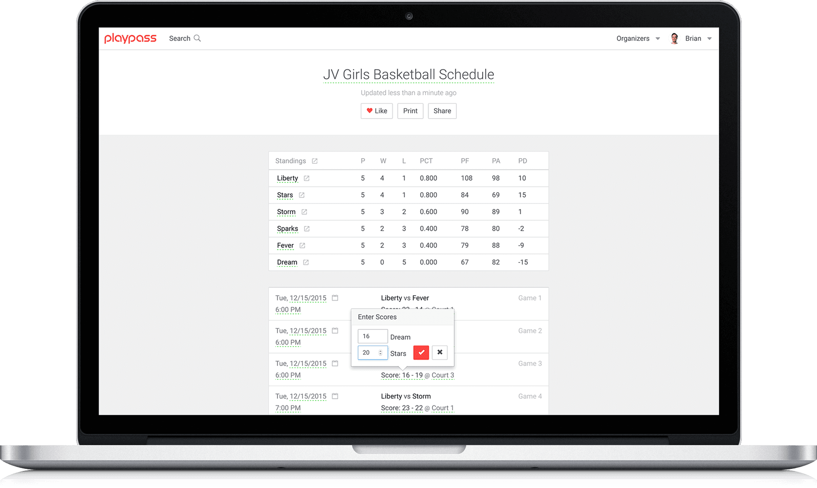 soccer schedule maker
