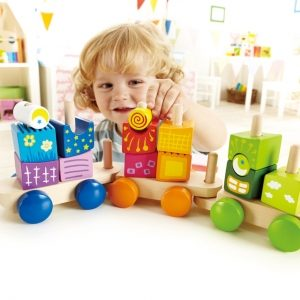 Child With Fantasia Blocks Train