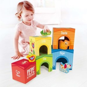 Sunny Valley Stacking Cubes and Girl Child