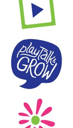 Play Talk Grow Icons Vertical