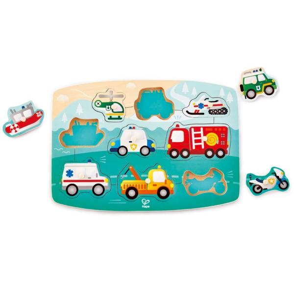 Emergency vehicle Peg Puzzle