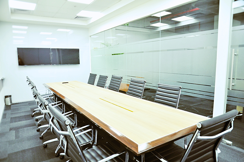 Large meeting room with collapsable wall