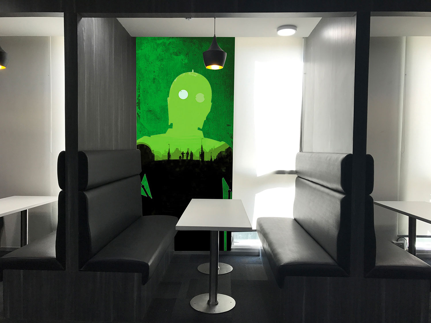Sci-fi themed work pods