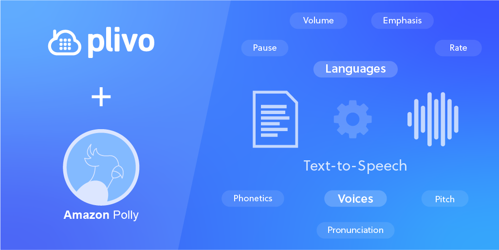 Plivo introduces 27 Languages & 40+ additional Text-to-Speech voices with Amazon Polly Integration