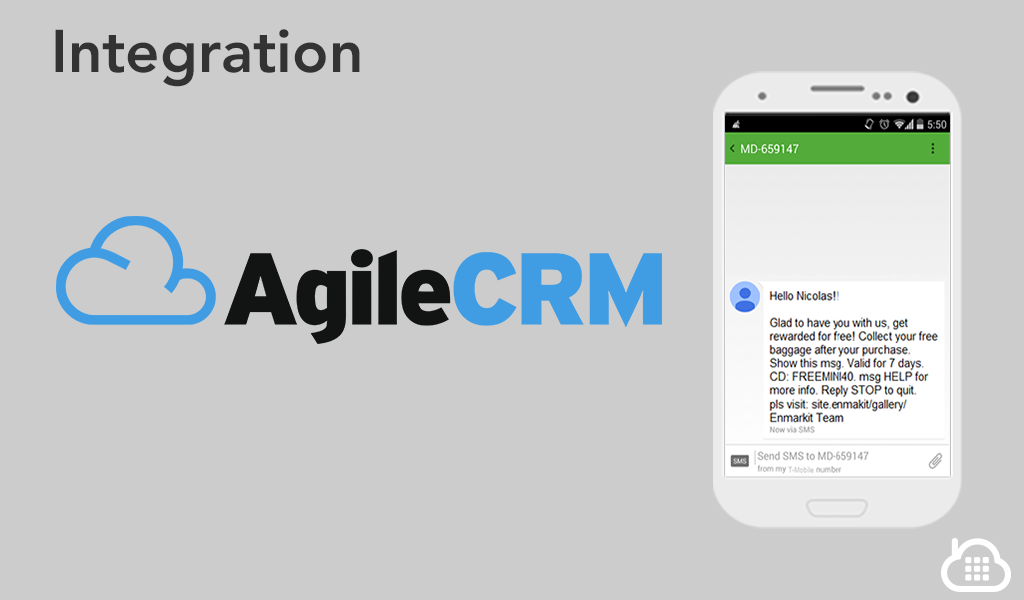 AgileCRM SMS Mobile Marketing Integration