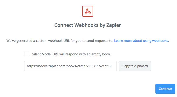 Copy the webhook