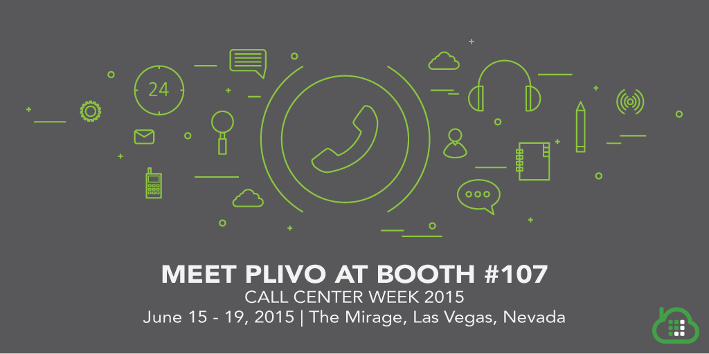 Meet us at Call Center Week 2015: Booth #107!