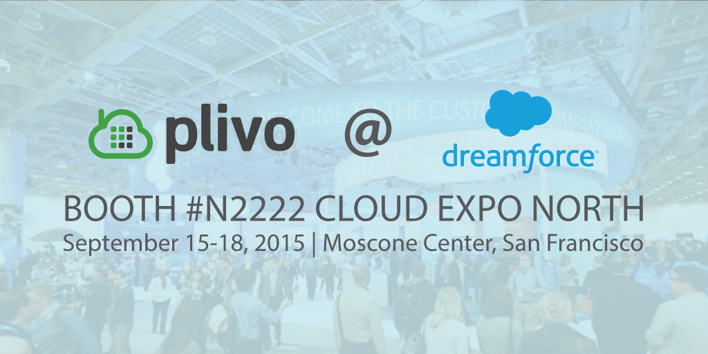 Banner: Meet Plivo at Dreamforce 2015