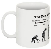 Plivo Evolution of Telephony Mug