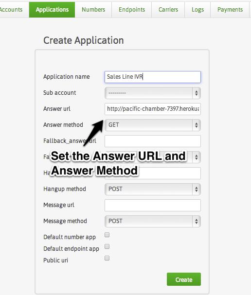HipChat API Bot - Plivo App