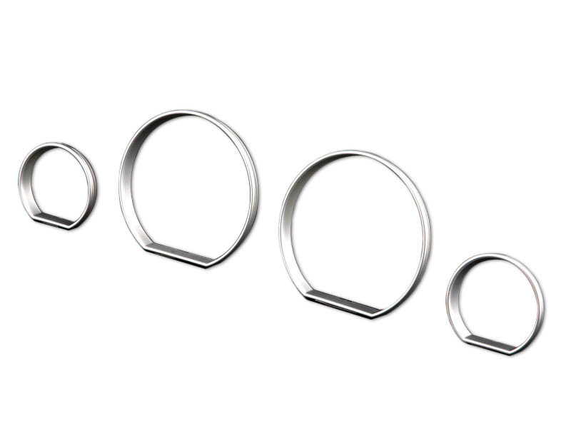 Bmw E46 M3 Zhp Cluster Dashboard Dial Gauge Rings Silver