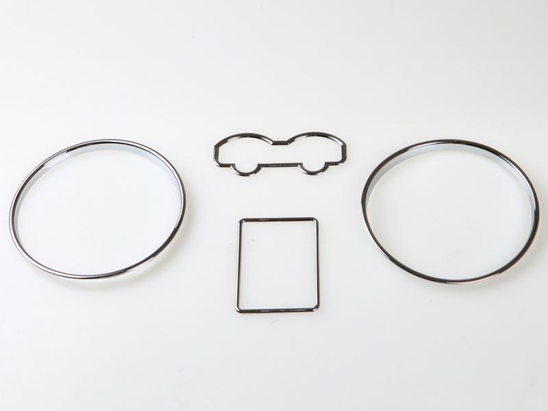 Chrome Dashboard Gauge Ring Bezel Set For Volkswagen VW MK4