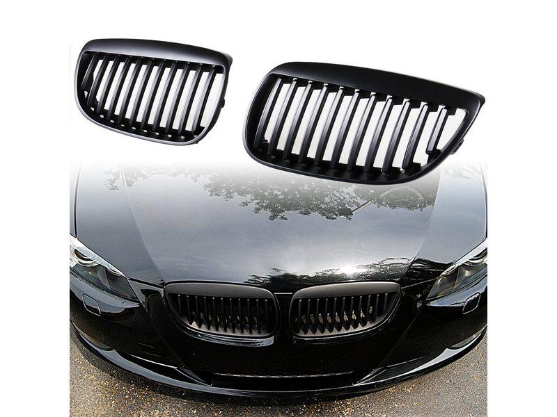 bmw e92 coupe e93 cabrio nieren grill schwarz 3er ebay. Black Bedroom Furniture Sets. Home Design Ideas