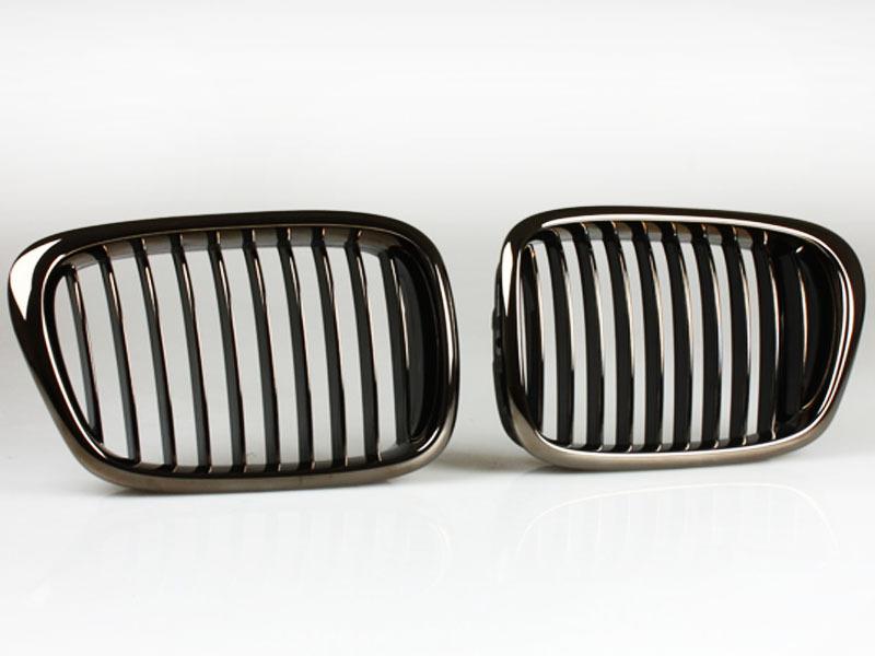 bmw e39 nieren k hlergrill grill schwarz chrom 5er m5 ebay. Black Bedroom Furniture Sets. Home Design Ideas