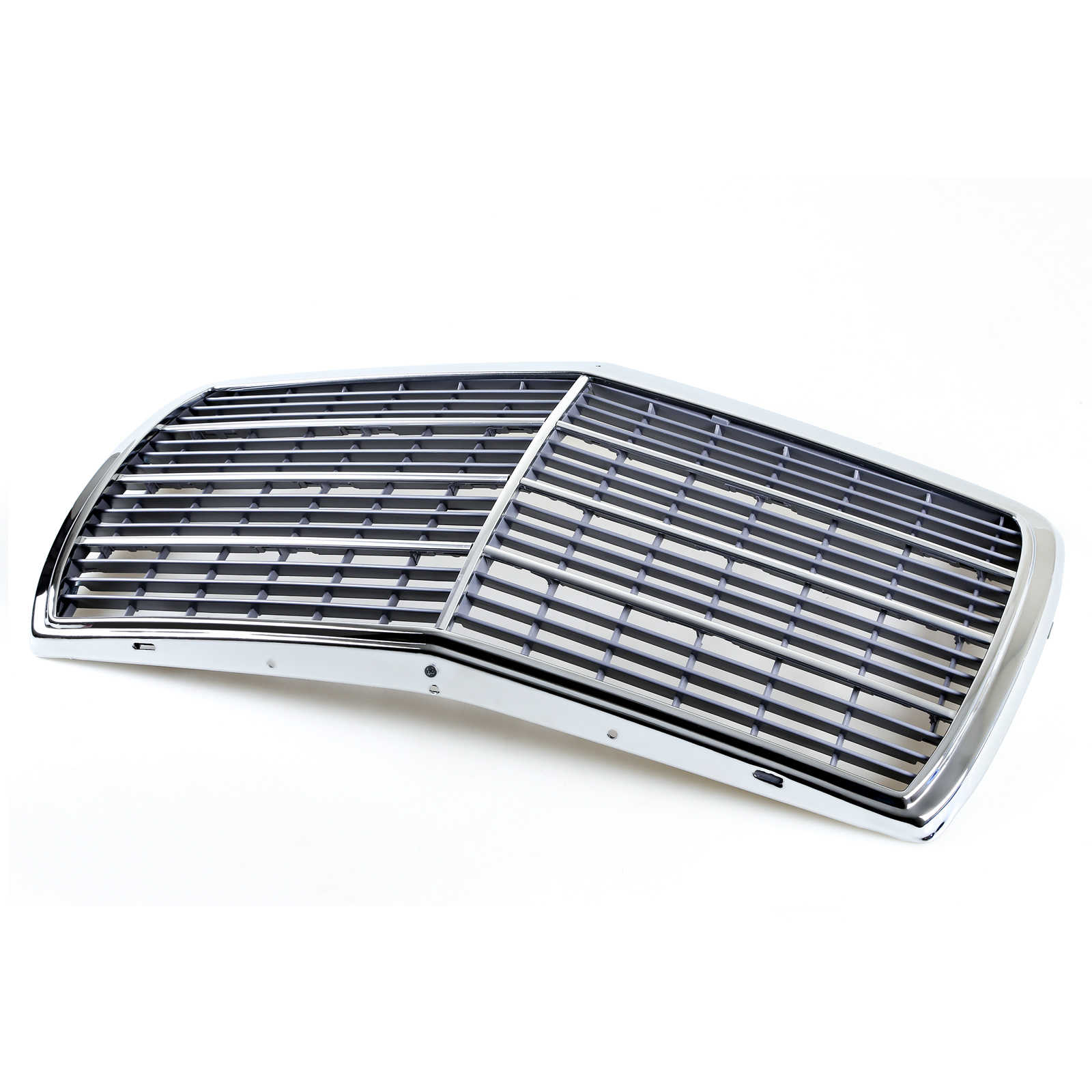 Chrome Auto Front Grill Grille Mesh For Mercedes Benz B: Chrome Frame + Mesh Front Grille For Mercedes W123 E-Class