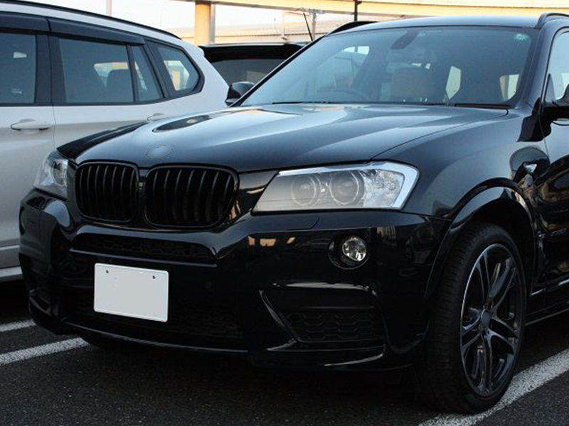 Details About Shiny Gloss Black Front Bumper Kidney Grille For Bmw F25 X3 11 13 Pre Lci