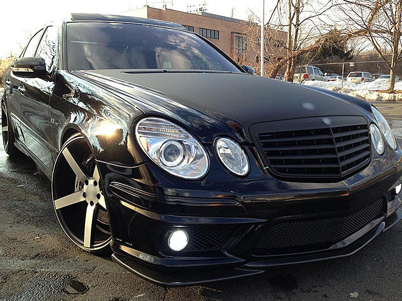 Matte Black Front Grille For Mercedes Benz W211 E Class E300 E320 E500 07 09 Ebay