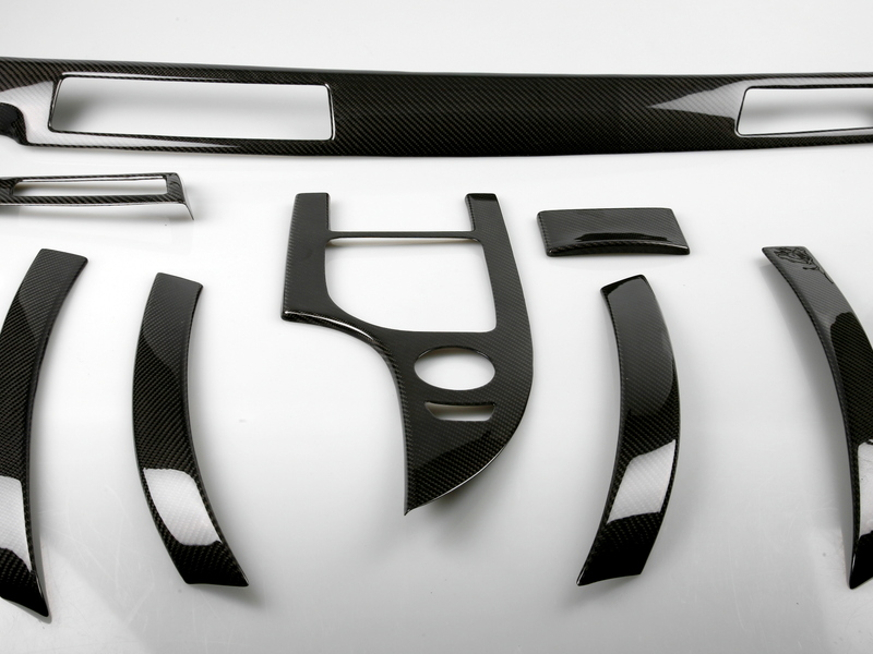 Bmw E60 E61 M5 Carbon Fiber Interior Dash Trim Kit Lhd
