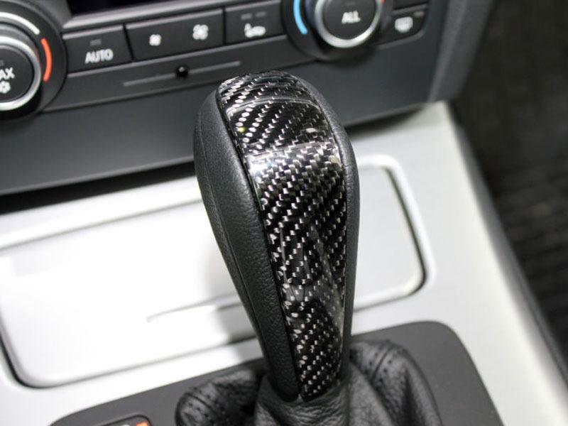 Details About Carbon Fiber Moulding Shift Gear Knob Cover For Bmw E90 E91 E92 E93 3 Series