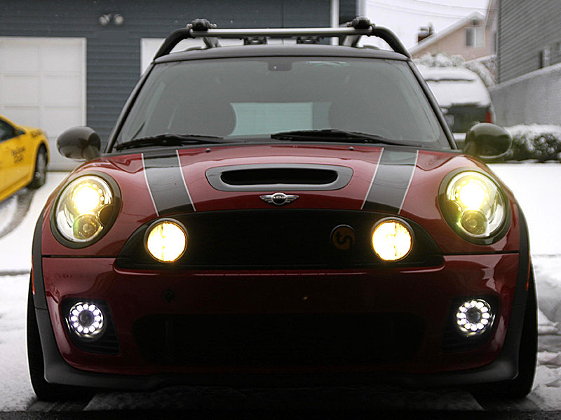 12 LED DRL Daytime Running Light Fog Lamp Kit For Mini