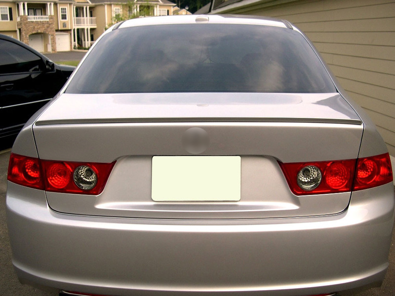 Painted 2004 2008 for acura tsx trunk lip spoiler satin silver nh service sciox Images