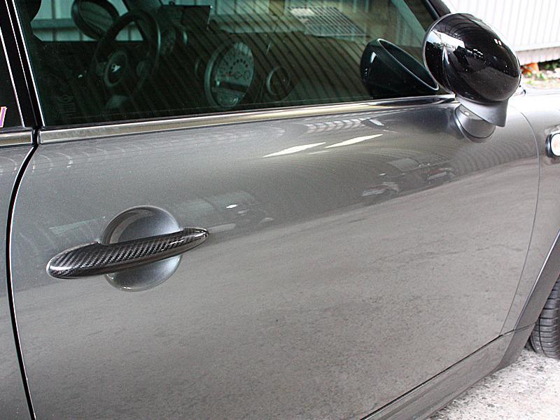 For Mini Cooper R50 R52 R53 R55 R56 R57 Dry Carbon Door Handle Cover ...