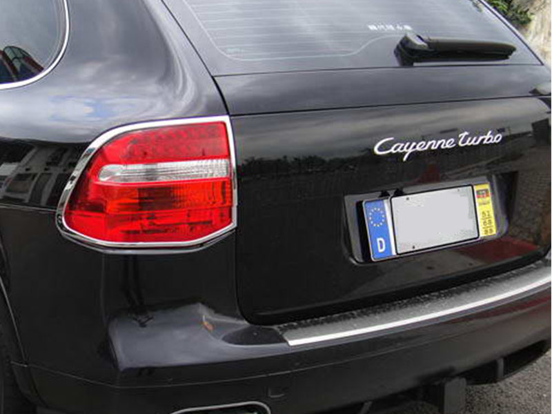 * Tail Light Rear Lamp Bezel Cover Chrome Trim For Porsche Cayenne 957
