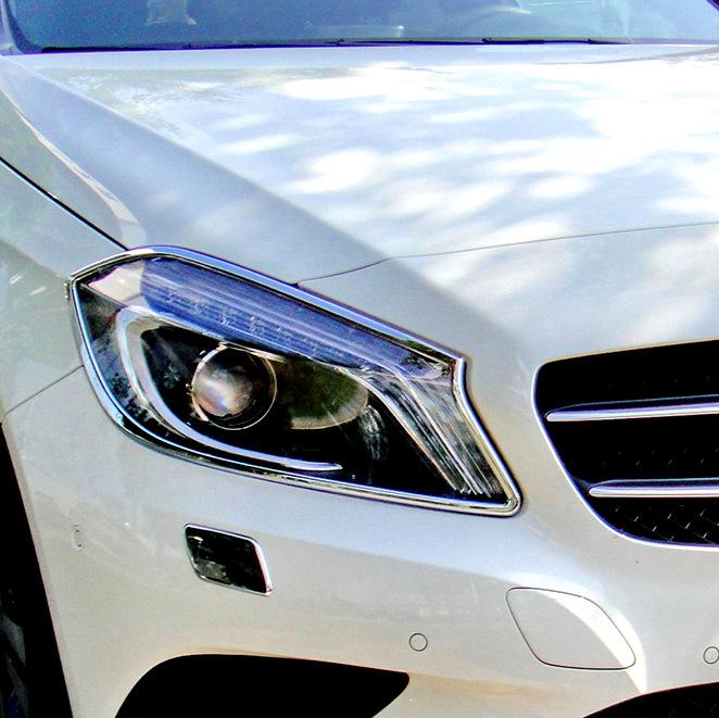 Chrome Headlights Trim Cover Surround Rim For Mercedes Benz C-Class W203 Sedan
