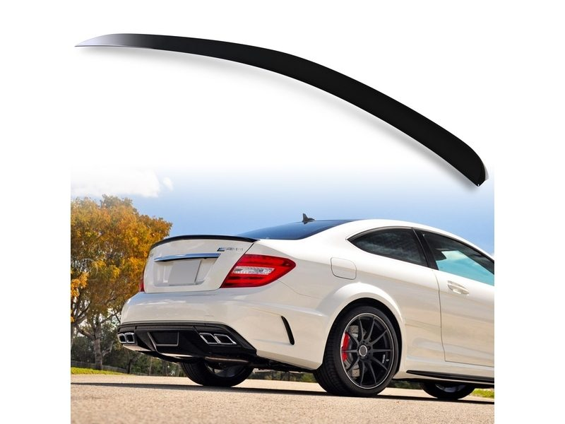 Painted For Mercedes Benz C204 2DR Coupe A Type Rear Trunk//Boot Spoiler Wing