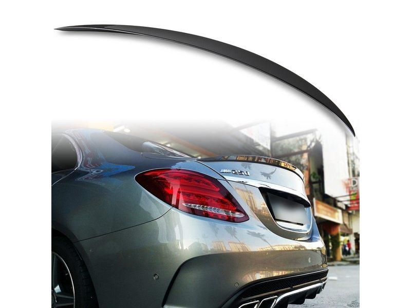 4D Carbon Fiber Look ABS Trunk Spoiler For Mercedes Benz W222 Sedan A Style