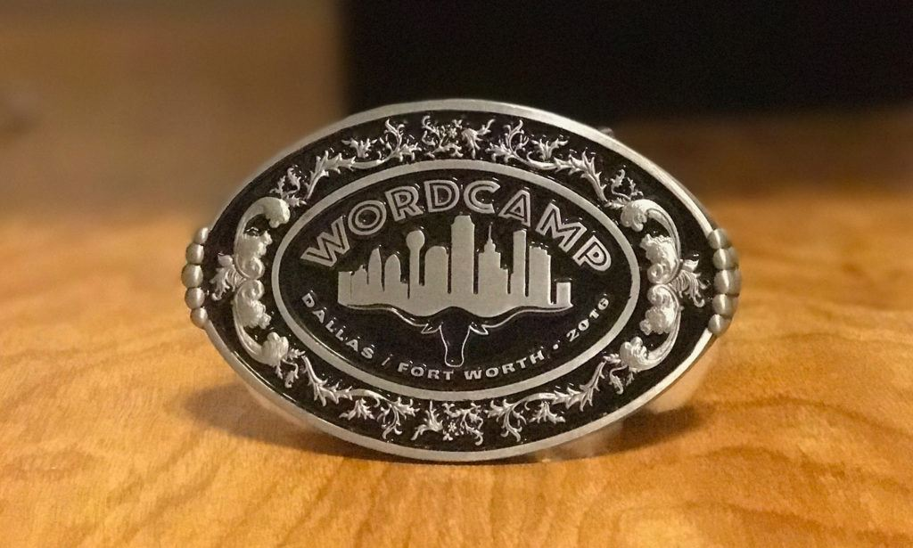 WordCamp Dallas-Fort Worth Texas 2016 Belt Buckle