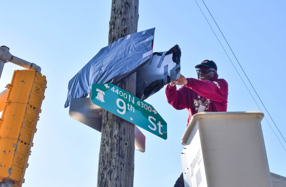 Hunting Park Street Sign Unveiling