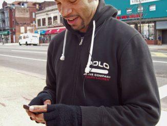 James Thomas on smartphone
