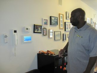 Patrick Griffin explains the control center