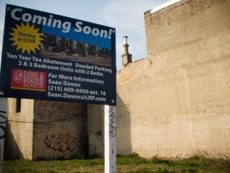 This formerly trash-strewn lot on Frankford Avenue will soon be home to new real estate development.