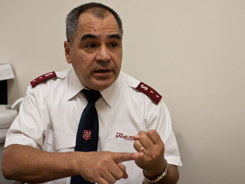 Nestor Valverde is the Captain at the Salvation Army at 3150 North Mascher Street.