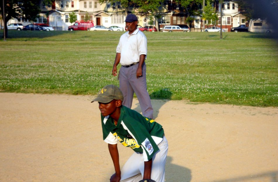 first baseman and the umpire