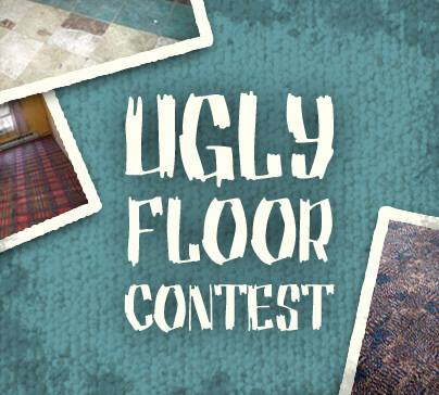 ugly floor, carpet shop