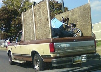 scrappers, truck, metal