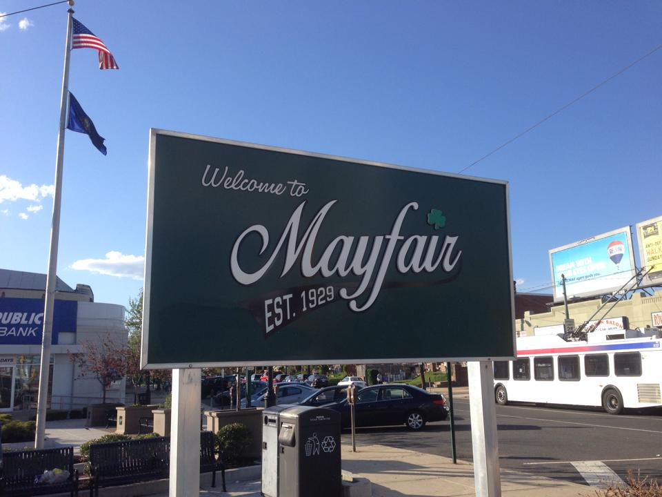 Mayfair Sign