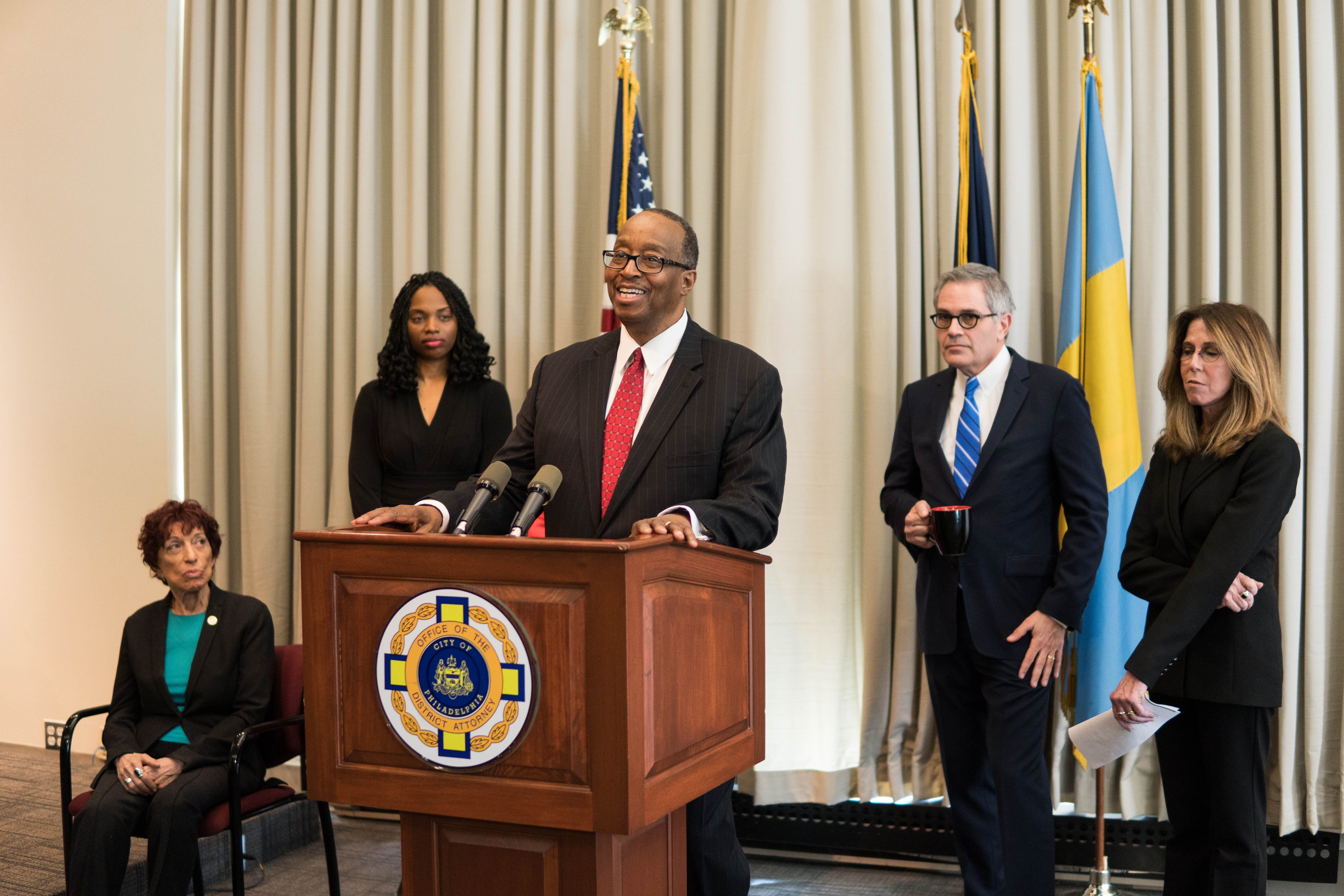 Robert Listenbee speaking at the District Attorney's Office during his appointment as the First Assistant to the DA.